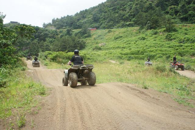 【濟州島-西南部】SanBada 山海ATV越野賽車體驗場(산바다 레저공원),山海美景盡收眼底