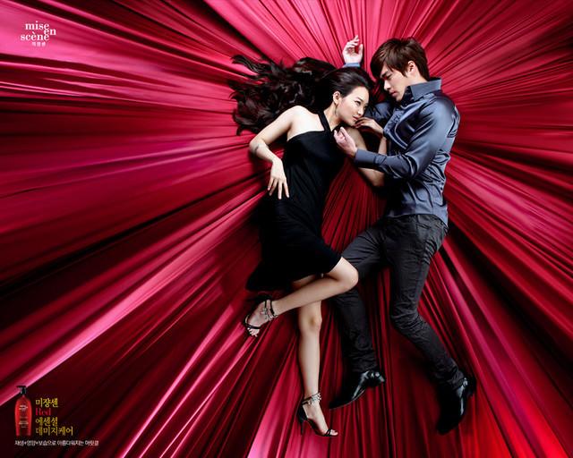 韓國超有名好用的美髮品牌『미쟝센Mise en scene 』(洗髮精/潤髮乳)紅色玫瑰版新產品入手啦~韓星 申美娜、玄彬代言~