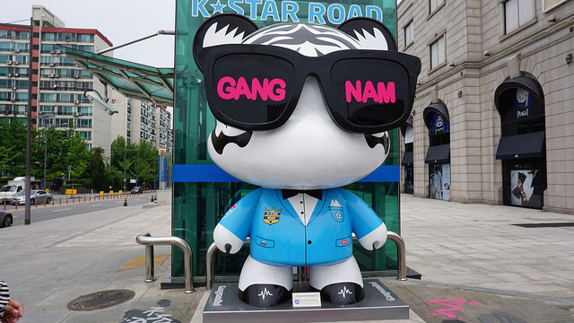 【狎鷗亭羅德奧站】哈韓追星新地標K Star ROAD.尋找你喜愛韓星專屬的江南熊GangnamDol
