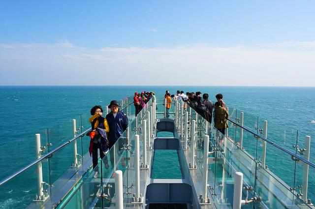 【釜山-大淵站】我在天空中漫步…五六島天空步道sky walk(오륙도 스카이워크)