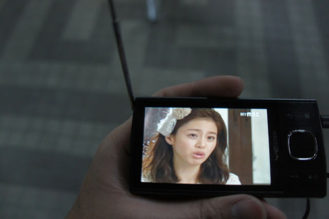 不想錯過首播的韓劇~有DMB TV真好…呵