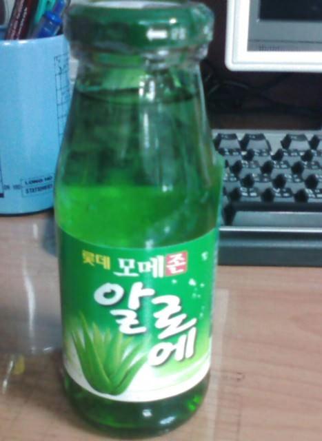 韓國熱門飲品:LOTTE알로에蘆薈飲料!!~台灣也有賣~